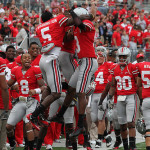 Barrett sets more records, Marshall scores 4 TDs as Ohio State clinches East Division title with 42-27 win