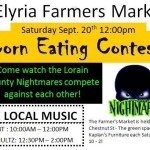 Elyria Farmers Market- A Corn Eating Contest and Football?