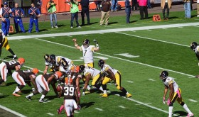 Ben Roethlisberger unable to hear due to crowd noise.