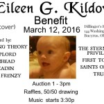 Eileen G. Kildow Benefit at Dillinger's Event Center in Bucyrus on Saturday!