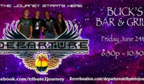 """Departure – Journey and Classic Rock, set to Rock Buck's Bar & Grill """"Any Way You Want It""""!"""