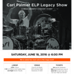 "Carl Palmer ""ELP Legacy Show"" Venue Change on Saturday!"