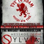Whiskey Warehouse Bar & Grill Welcomes Eve To Adam, Message From Sylvia and Blacklite District on Wednesday!