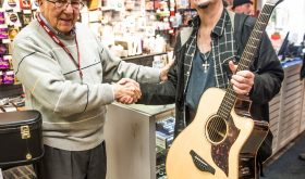 Local Musician, Frank Medley Receives a Gift from Yamaha and Metronome Music!