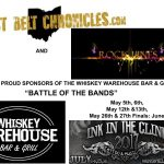 The Rust Belt Chronicles and Rock Lines are the Official Sponsors of The Whiskey Warehouse Bar & Grlll's Battle of The Bands 2017!