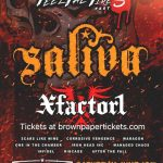 SALIVA plays the  Muddy Creek Saloon this Saturday and Fans will Feel The Fire!